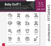 baby stuff elements vector... | Shutterstock .eps vector #557260642