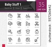 baby stuff elements vector... | Shutterstock .eps vector #557260642