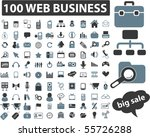 100 web business signs. vector | Shutterstock .eps vector #55726288