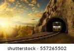 Mountain Railroad With Train I...