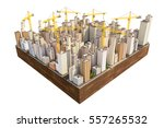 big city in the construction...   Shutterstock . vector #557265532