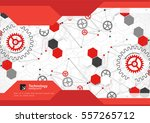 brochure design template. gear... | Shutterstock .eps vector #557265712