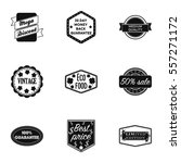 label set icons in black style. ... | Shutterstock .eps vector #557271172