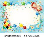 party background with carnival... | Shutterstock .eps vector #557282236