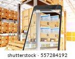 industry 4.0  warehouse... | Shutterstock . vector #557284192