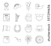 saint patrick icons set.... | Shutterstock .eps vector #557294656