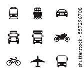 transportation icons. black on... | Shutterstock .eps vector #557296708
