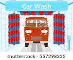 car wash. flat vector. | Shutterstock .eps vector #557298322