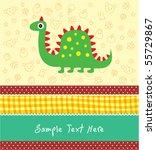 cute dinosaur holiday | Shutterstock .eps vector #55729867
