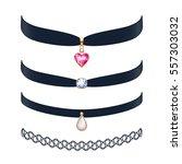 Beautiful Choker Necklaces Set...