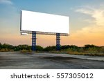 blank billboard with sky at... | Shutterstock . vector #557305012