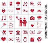 valentine icon set | Shutterstock .eps vector #557309986