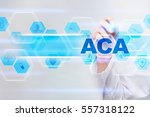 medical doctor drawing aca on... | Shutterstock . vector #557318122