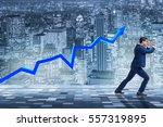 businessman supporting increase ... | Shutterstock . vector #557319895