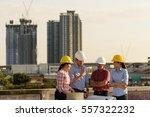 multi ethnic group of engineers ... | Shutterstock . vector #557322232