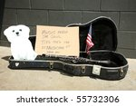 An Empty Guitar Case With A...