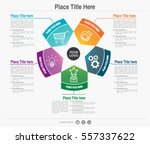 five step colorful infographic... | Shutterstock .eps vector #557337622