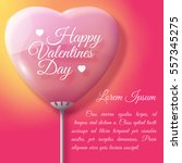 valentines day greeting card... | Shutterstock .eps vector #557345275