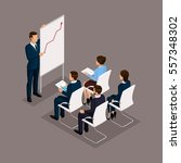 isometric people  businessmen... | Shutterstock .eps vector #557348302