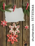 christmas gingerbread cookies... | Shutterstock . vector #557353666