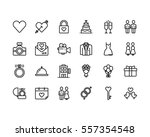 love and wedding icon set