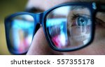 macro eyes web surfer and the... | Shutterstock . vector #557355178