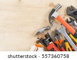 building and measuring tools ... | Shutterstock . vector #557360758
