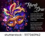 mardi gras mask  colorful... | Shutterstock .eps vector #557360962