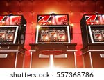 slot casino game machines. las... | Shutterstock . vector #557368786