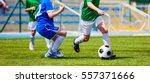 Children Soccer Players Runnin...