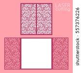 laser cut wedding invitation... | Shutterstock .eps vector #557376226