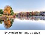 sunrise on braddock lake in... | Shutterstock . vector #557381026