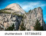mountains of the yosemite... | Shutterstock . vector #557386852