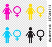 female sign illustration. cmyk...