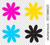 flower sign illustration. cmyk...