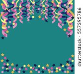 background with confetti  paper ... | Shutterstock .eps vector #557395786
