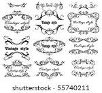 vintage design. set. | Shutterstock .eps vector #55740211