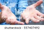 businessman holding digital... | Shutterstock . vector #557407492