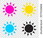 sun sign illustration. cmyk...