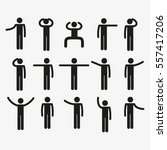 stick figure set | Shutterstock .eps vector #557417206