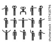 stick figure set | Shutterstock .eps vector #557418796