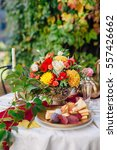 exotic fruits and a flowers at...   Shutterstock . vector #557426662