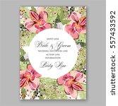 alstroemeria wedding invitation ...   Shutterstock .eps vector #557433592