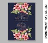alstroemeria wedding invitation ... | Shutterstock .eps vector #557433682