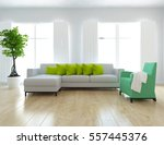 white room with a sofa. living... | Shutterstock . vector #557445376