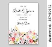 alstroemeria wedding invitation ... | Shutterstock .eps vector #557450872