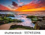 beautiful hawaiian sunset | Shutterstock . vector #557451046