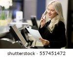 hotel receptionist. modern... | Shutterstock . vector #557451472