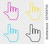 hand sign illustration. cmyk... | Shutterstock .eps vector #557454742