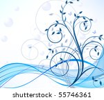 floral abstract background | Shutterstock .eps vector #55746361